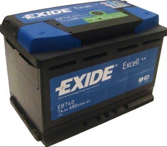 Exide Eb740 Starter Battery 74 Ah